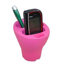 Pen and cell phone holder
